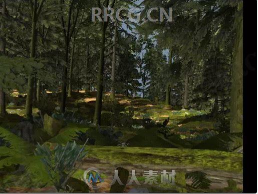 植被逼真森林场景环境Unity游戏素材资源