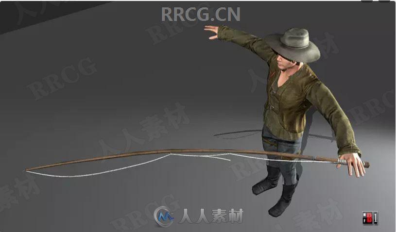 3D逼真渔夫角色肢体动作Unity游戏素材资源