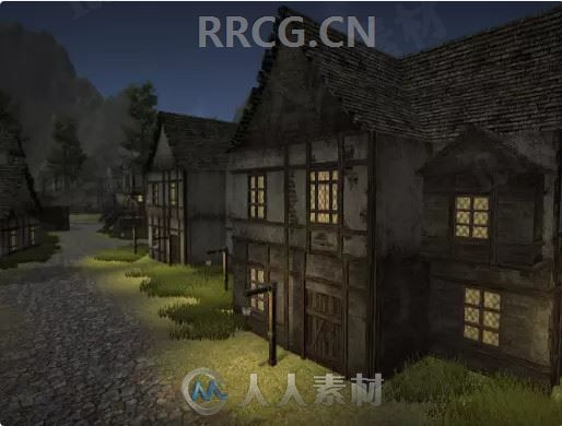 3D梦幻城镇房屋环境场景Unity游戏素材资源