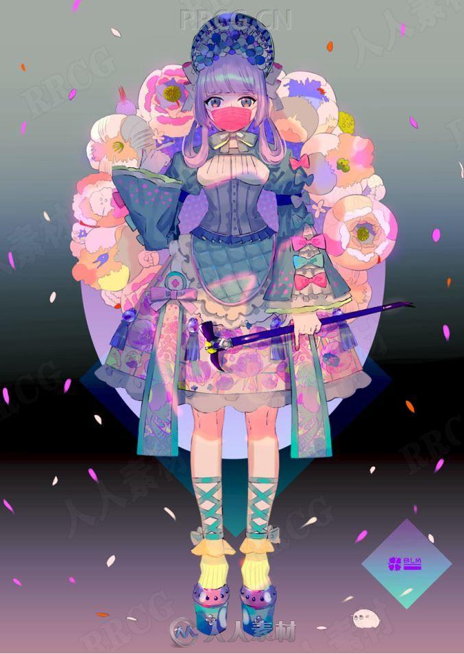 日本画师问七呆萌可爱二次元美少女原画插画集