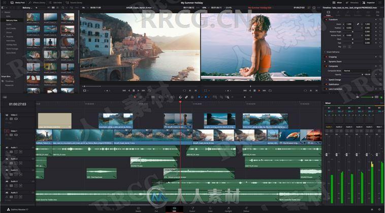 DaVinci Resolve Studio达芬奇影视调色软件V17.0.0B.0013版
