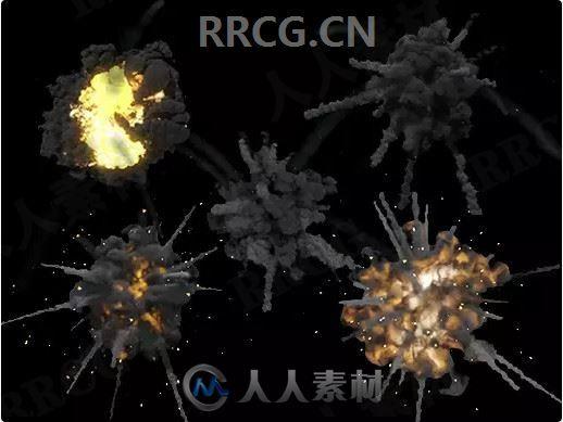 火焰爆炸粒子视觉效果Unity游戏素材资源