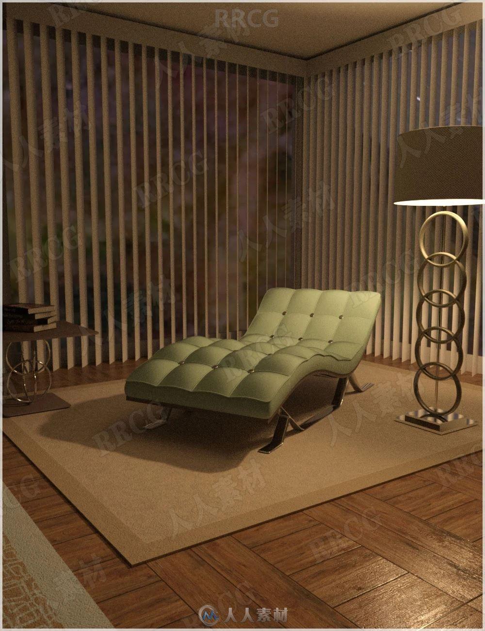 休闲小憩放松舒适室内角落3D模型合集