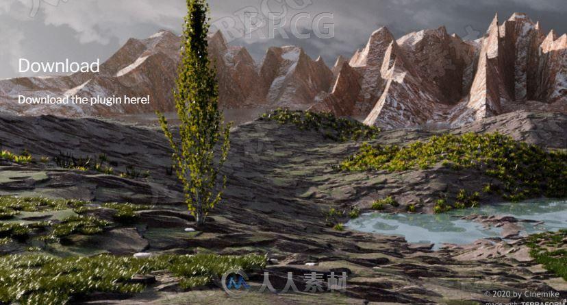 Terraform4D无损构建自然地形生成C4D插件V1.1.0版