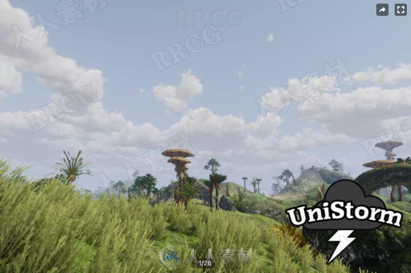 动态天空天气变化粒子效果工具Unity游戏素材资源