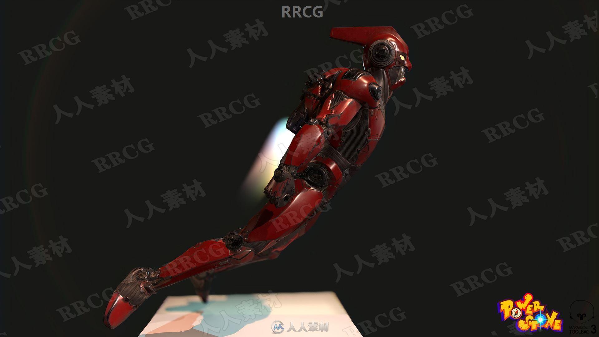 能量宝石游戏角色Falcon高质量3D模型