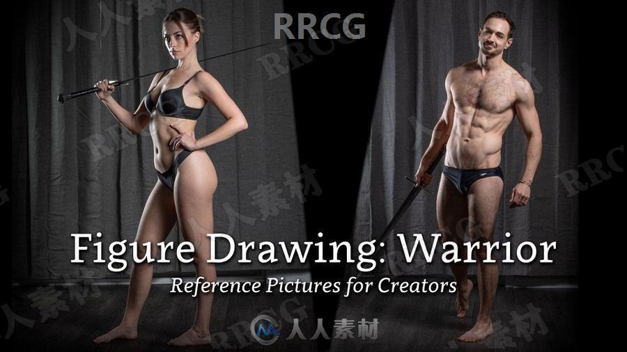 700组男性女性肖像战斗打斗动作姿势造型高清参考图片合集
