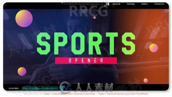 现代体育健身运动宣传展示动画AE模板