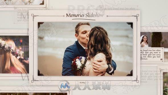 婚纱照纪念册切换展示动画AE模板