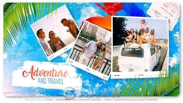 奇特冒险度假旅行回忆录展示动画AE模板