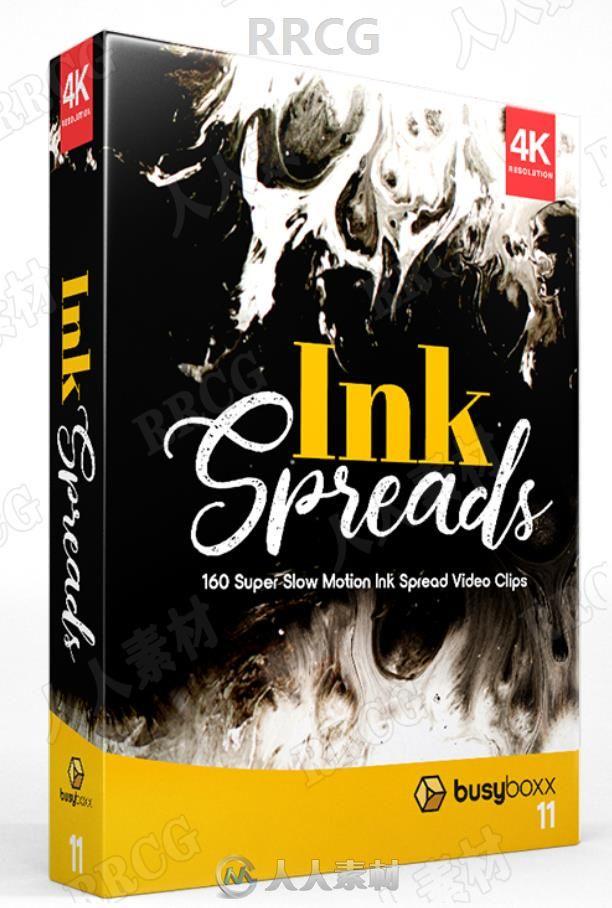 160组墨水墨迹动画超级慢动作4K高清视频素材合集