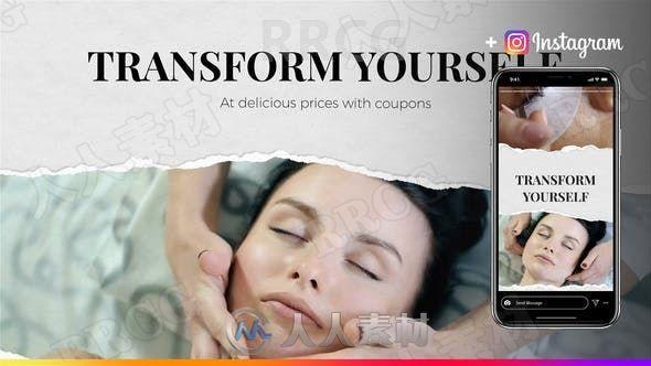 女性护肤美容彩妆产品宣传展示动画AE模板
