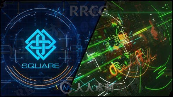 数据科技感效果LOGO动画演绎AE模板