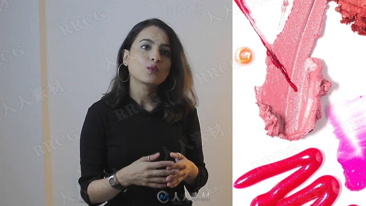 唇彩产品摄影及PS海报宣传后期处理视频教程