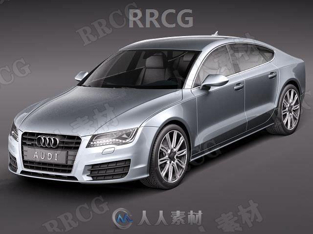 奥迪轿车Audi A7 Sportback 2011款真实汽车3D模型