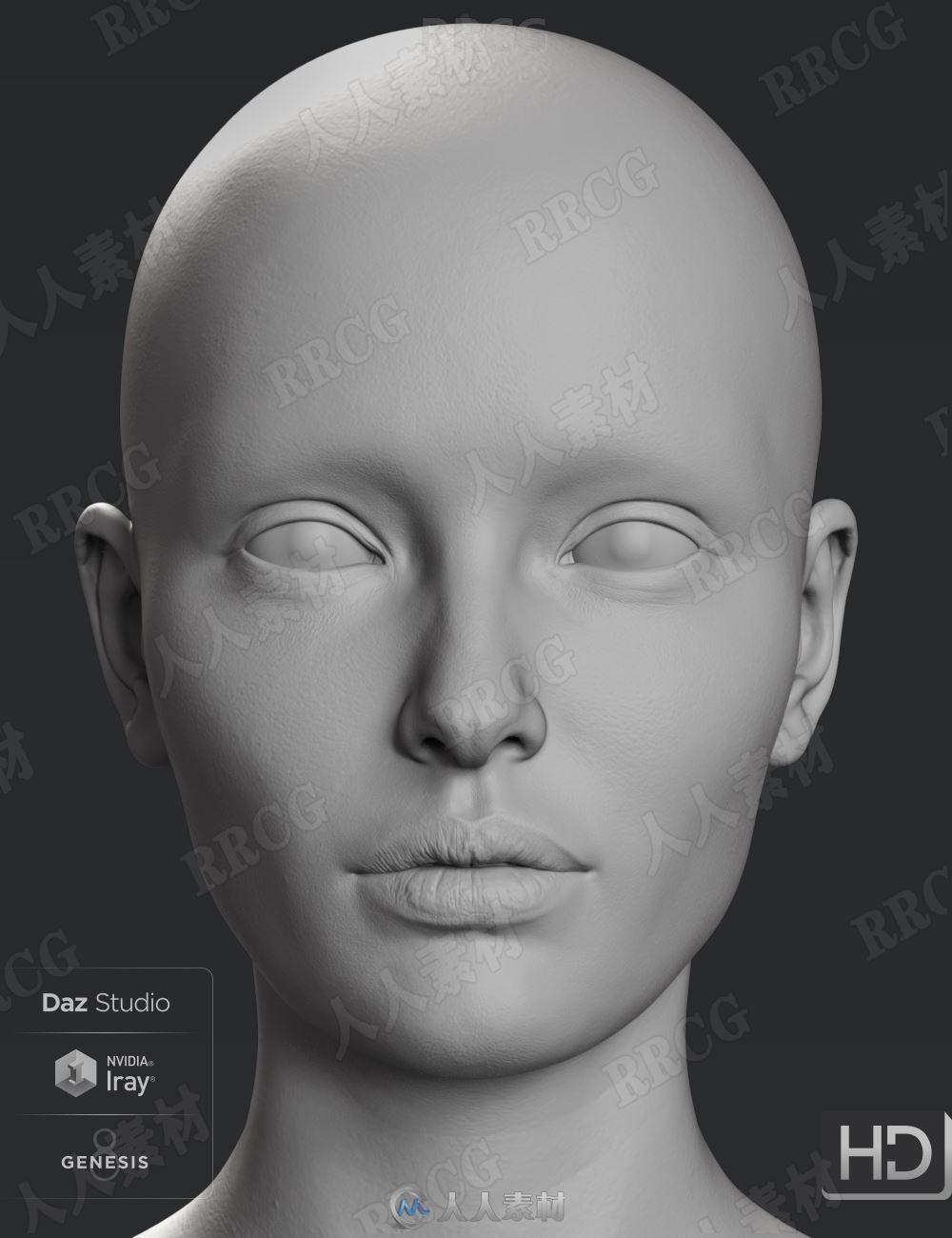 高清女性附加组件人体3D模型合集