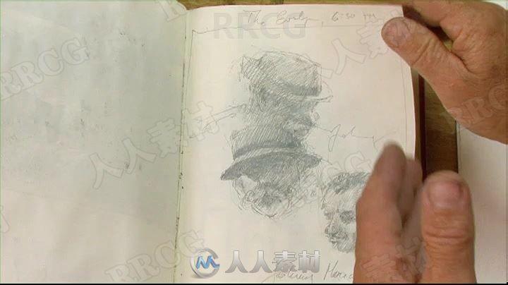 oseph Zbukvic画师水彩画草稿到上色详细步骤传统手绘视频教程