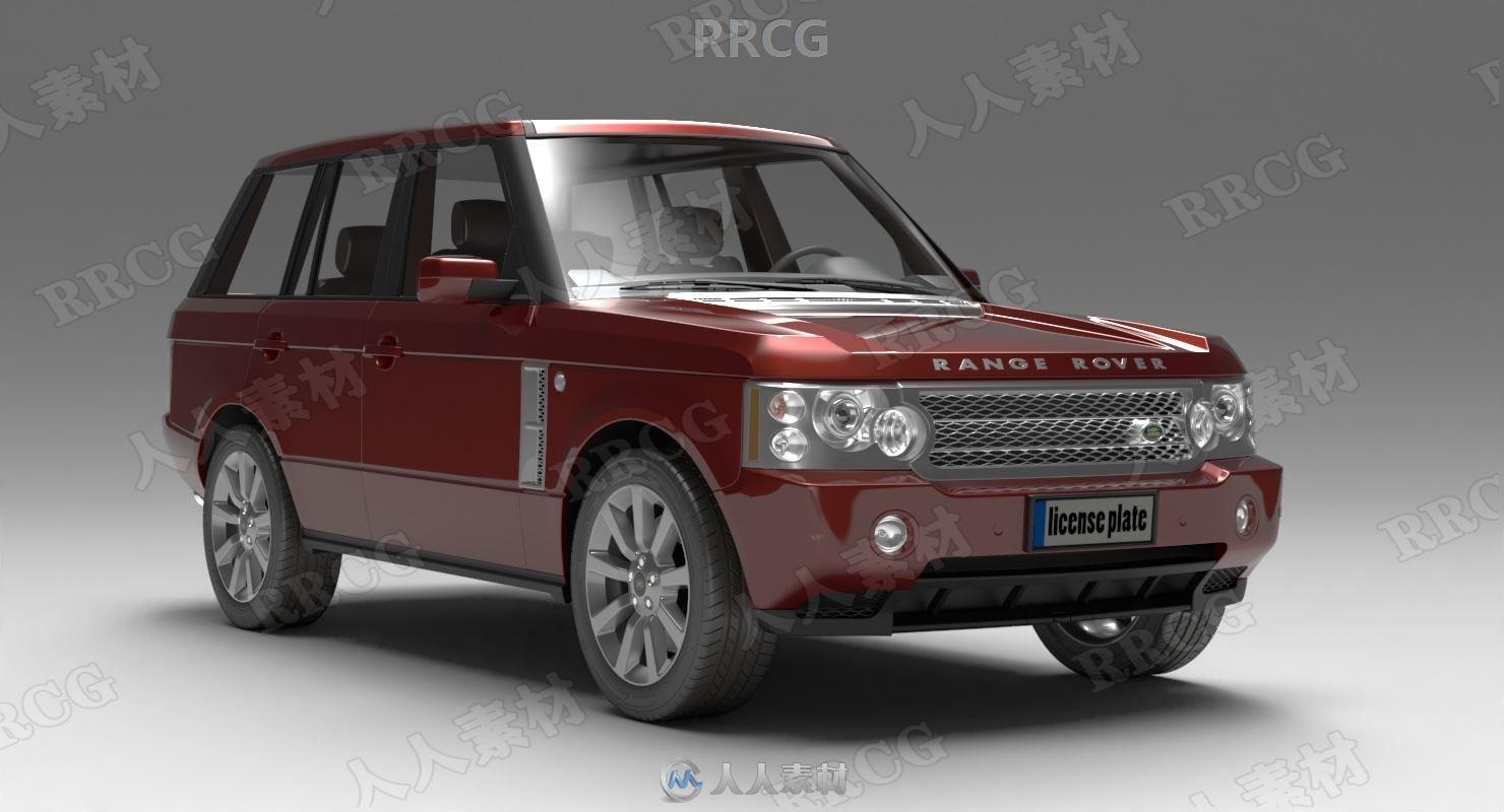路虎揽胜越野车Land Rover Range Rover 2006款真实汽车3D模型