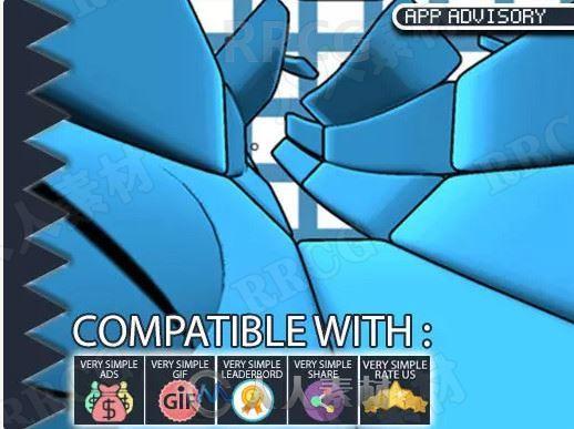 扭曲隧道街机类完整模板Unity游戏素材资源
