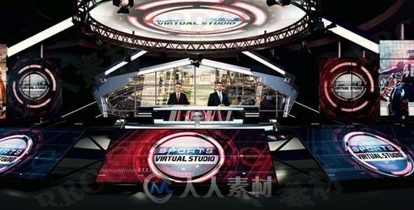 体育赛事讲解演播厅展示动画AE模板
