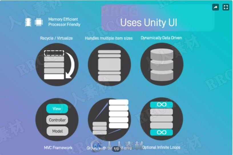 滚动条图形用户界面工具Unity游戏素材资源