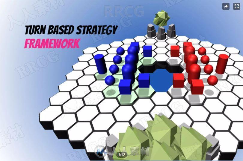 回合制策略框架系统模板Unity游戏素材资源