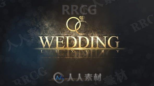 梦幻烟雾笼罩婚礼主题相册缓慢切换展示动画AE模板