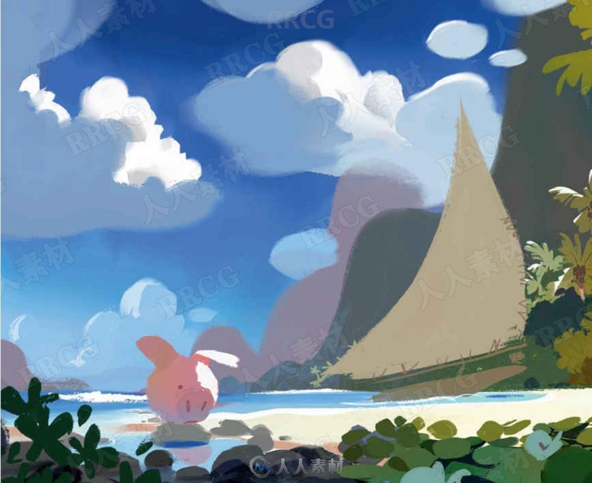 迪士尼动画电影《海洋奇缘》官方设定画集
