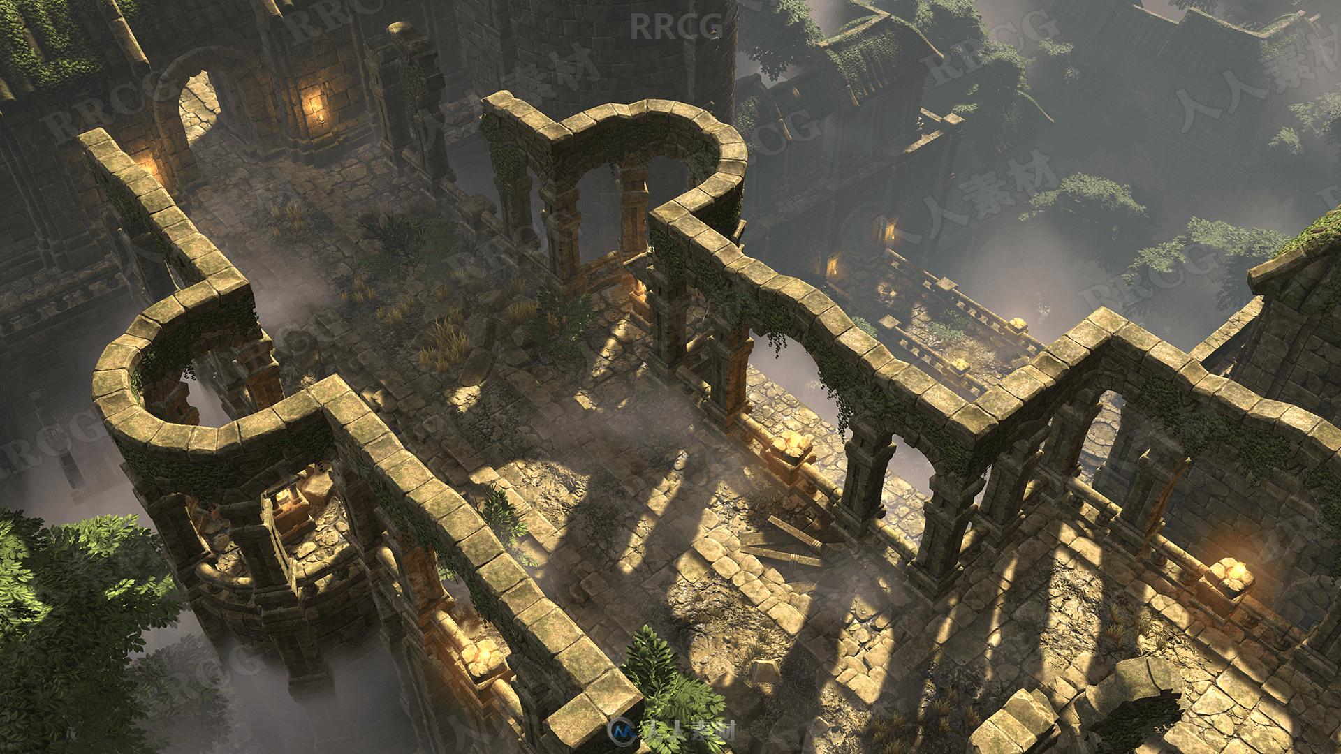 3D风格化寺庙场景环境Unreal Engine游戏素材资源