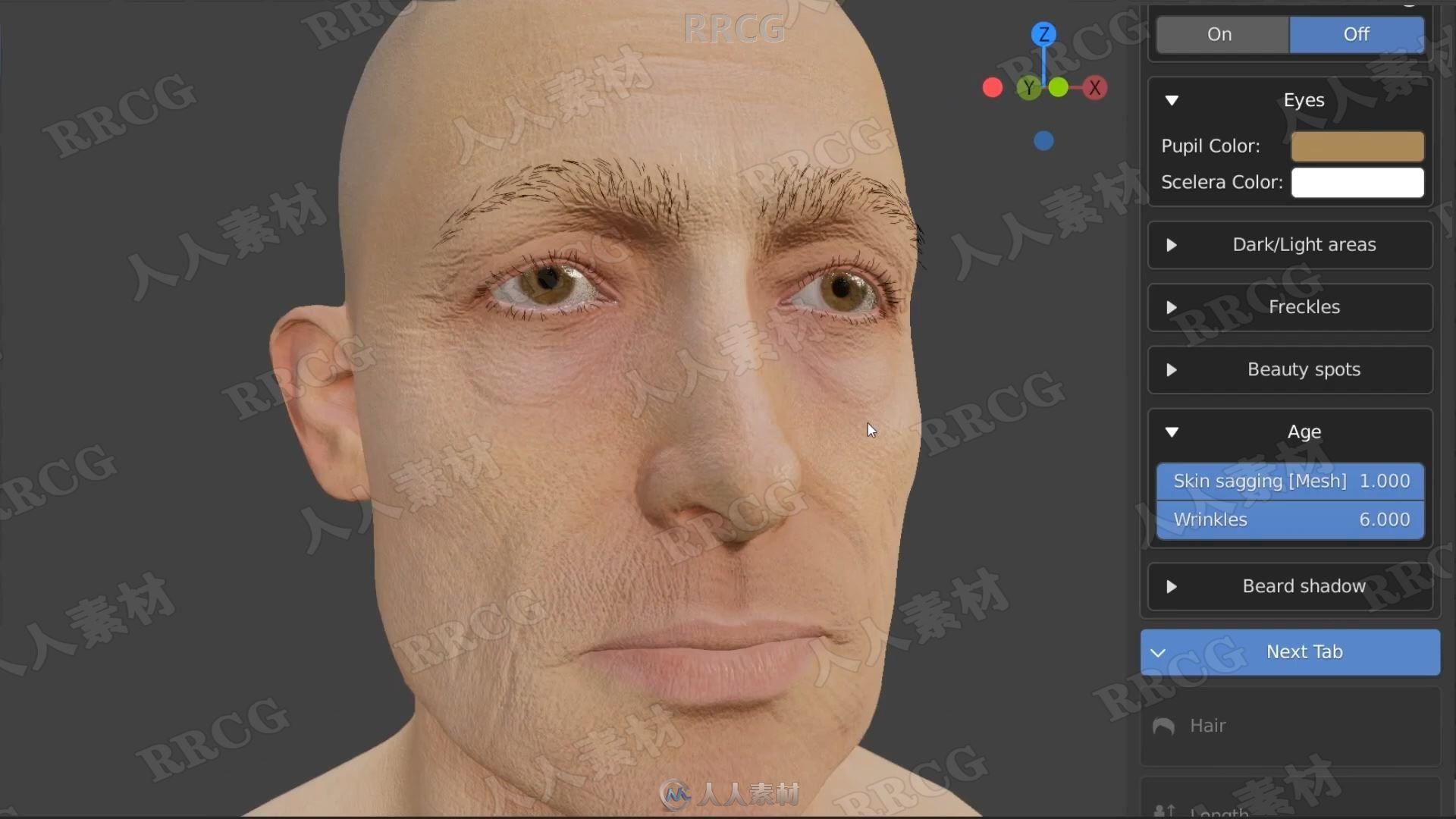 Human Generator人物角色生成器Blender插件V2.0版