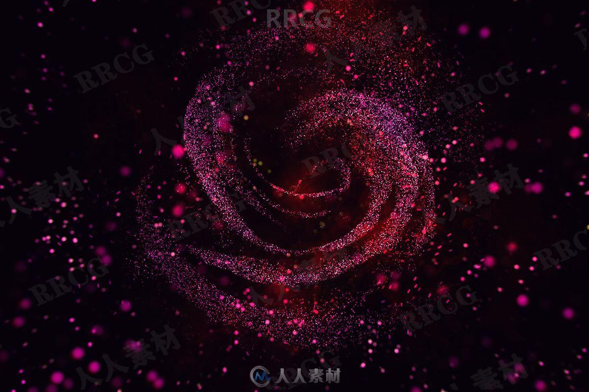 闪亮多彩星光亮片效果构成抽象艺术图像处理特效PS动作