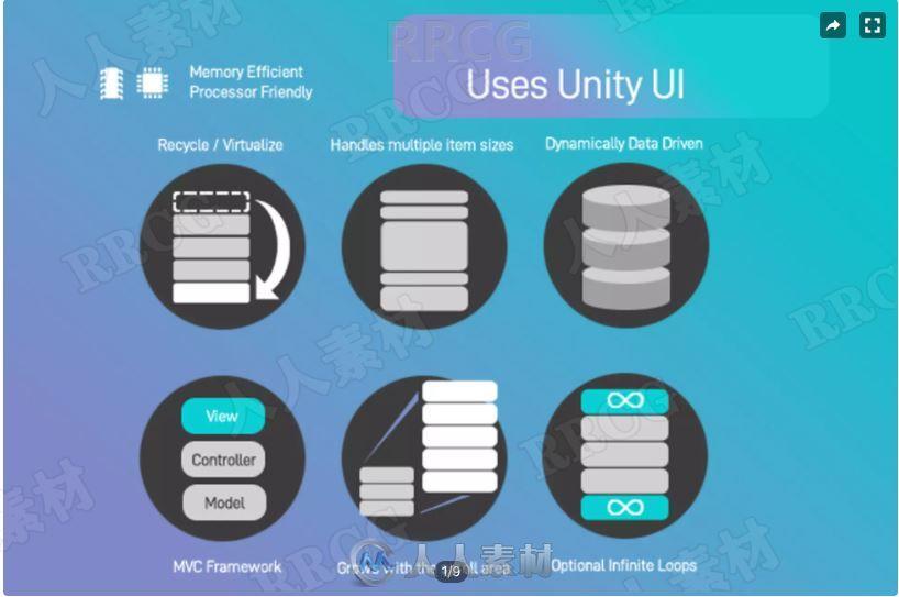 增强滚动条图形用户界面工具Unity游戏素材资源