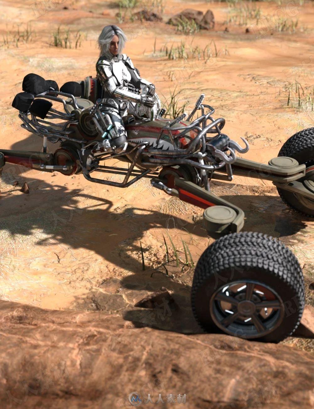 沙漠古老轰炸机镀铬赛车喷漆3D模型合集