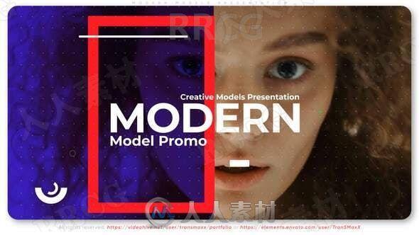 现代杂志效果时尚媒体开场展示动画AE模板