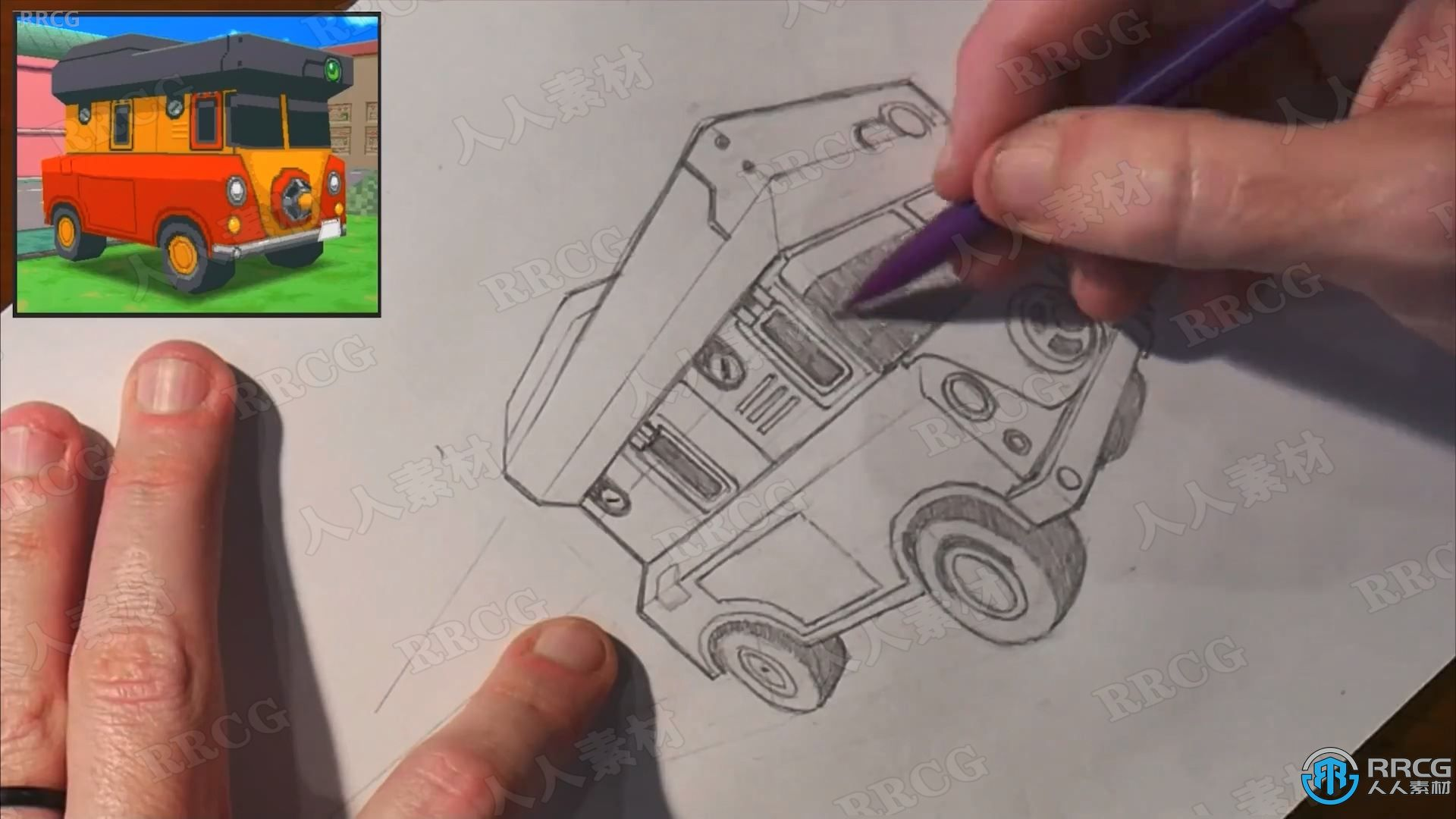 导师Trent Kaniuga教你车辆透视绘画技法视频教程