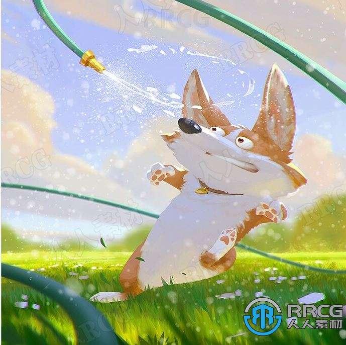 华人画师Lynn Chen可爱卡通人物动物动画角色原画插画集