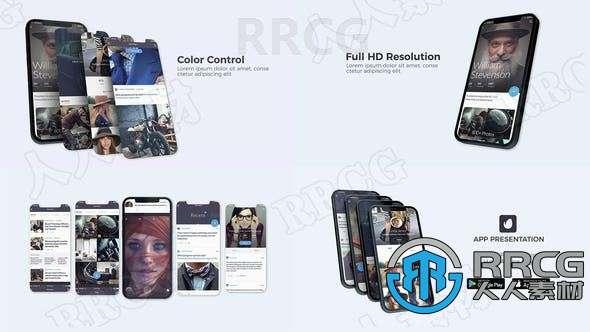 企业商务移动端应用演示宣传展示动画AE模板