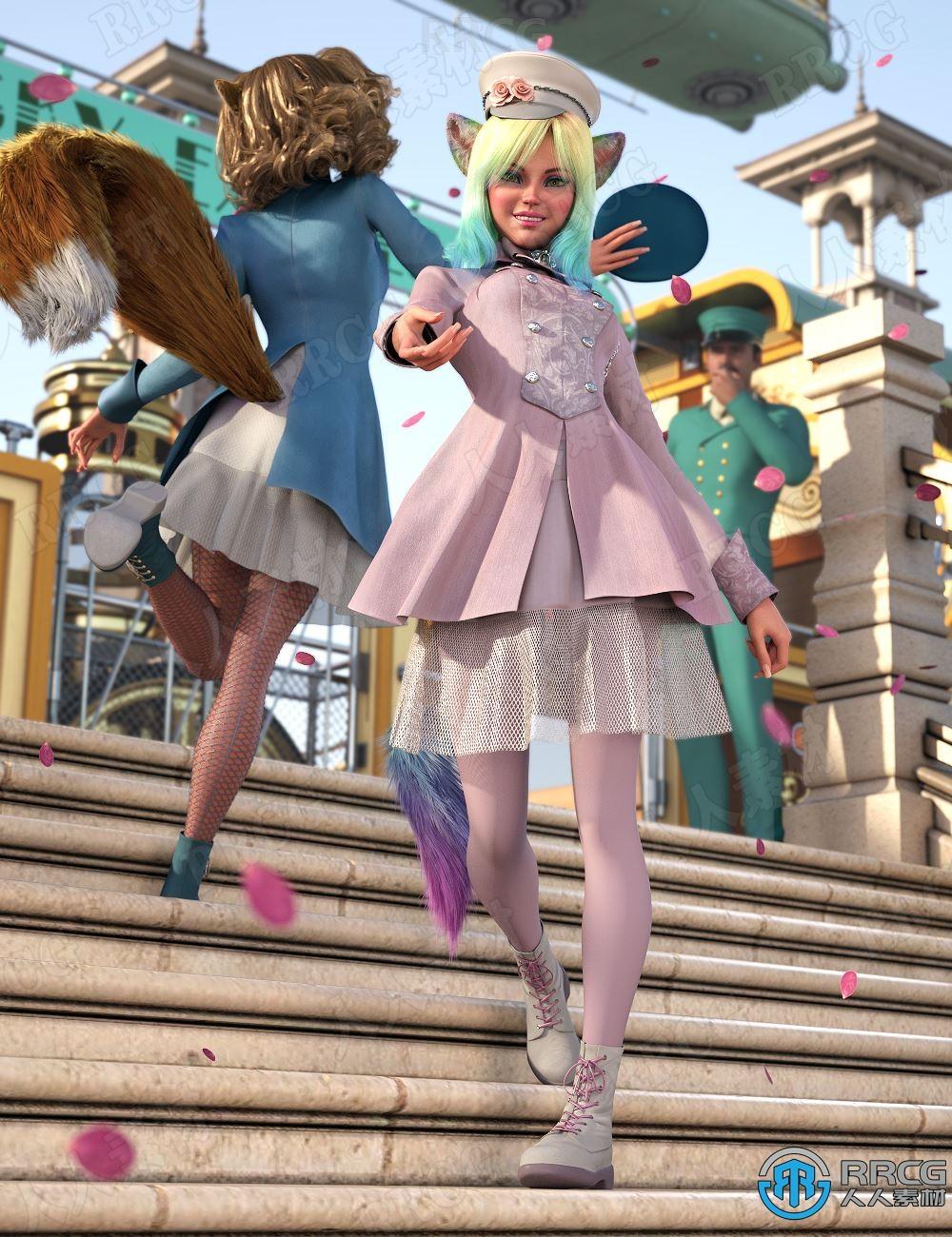 角色装扮流行元素制服服饰套装3D模型合集
