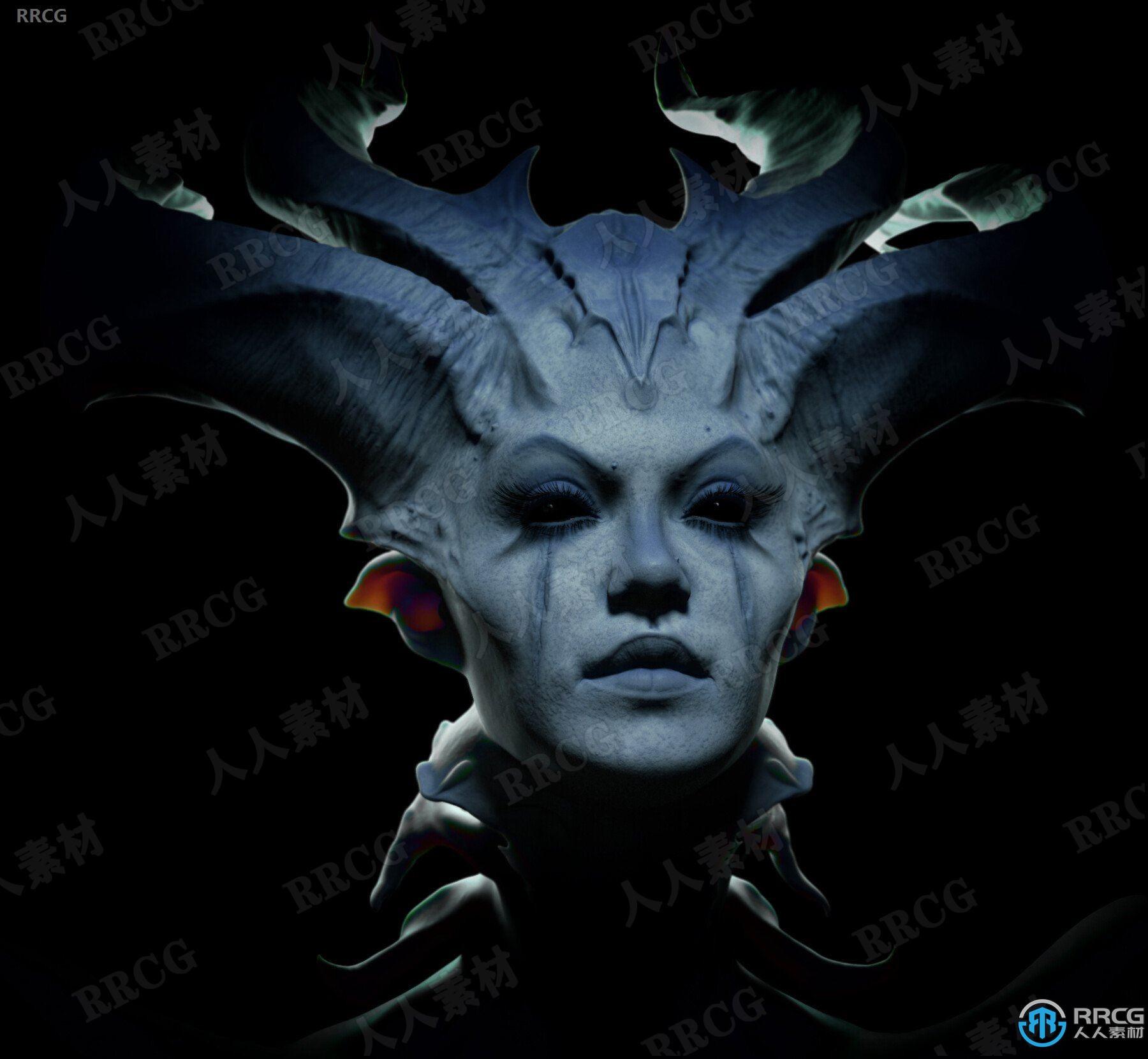莉莉丝Lilith夜妖魔女神话角色3D模型