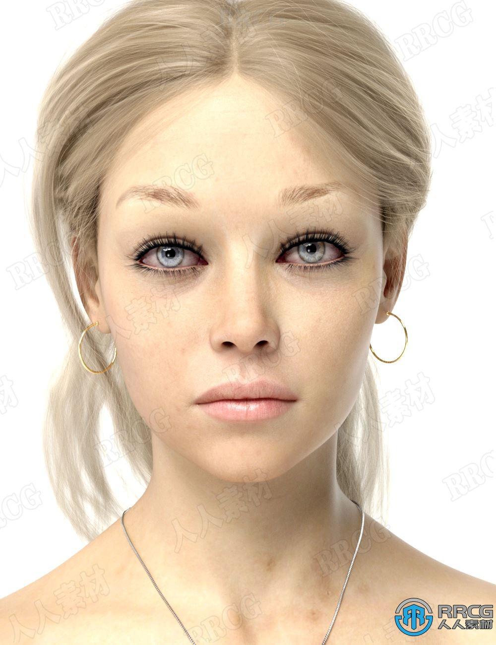 户外活动美丽女性角色3D模型合集