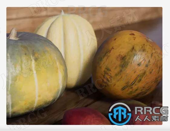 23种高质量水果食物静物3D道具Unity游戏素材资源