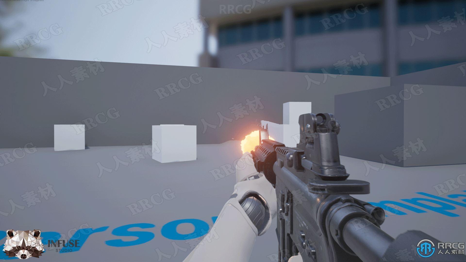 49个自定义枪械武器配备工具Unreal Engine游戏素材资源