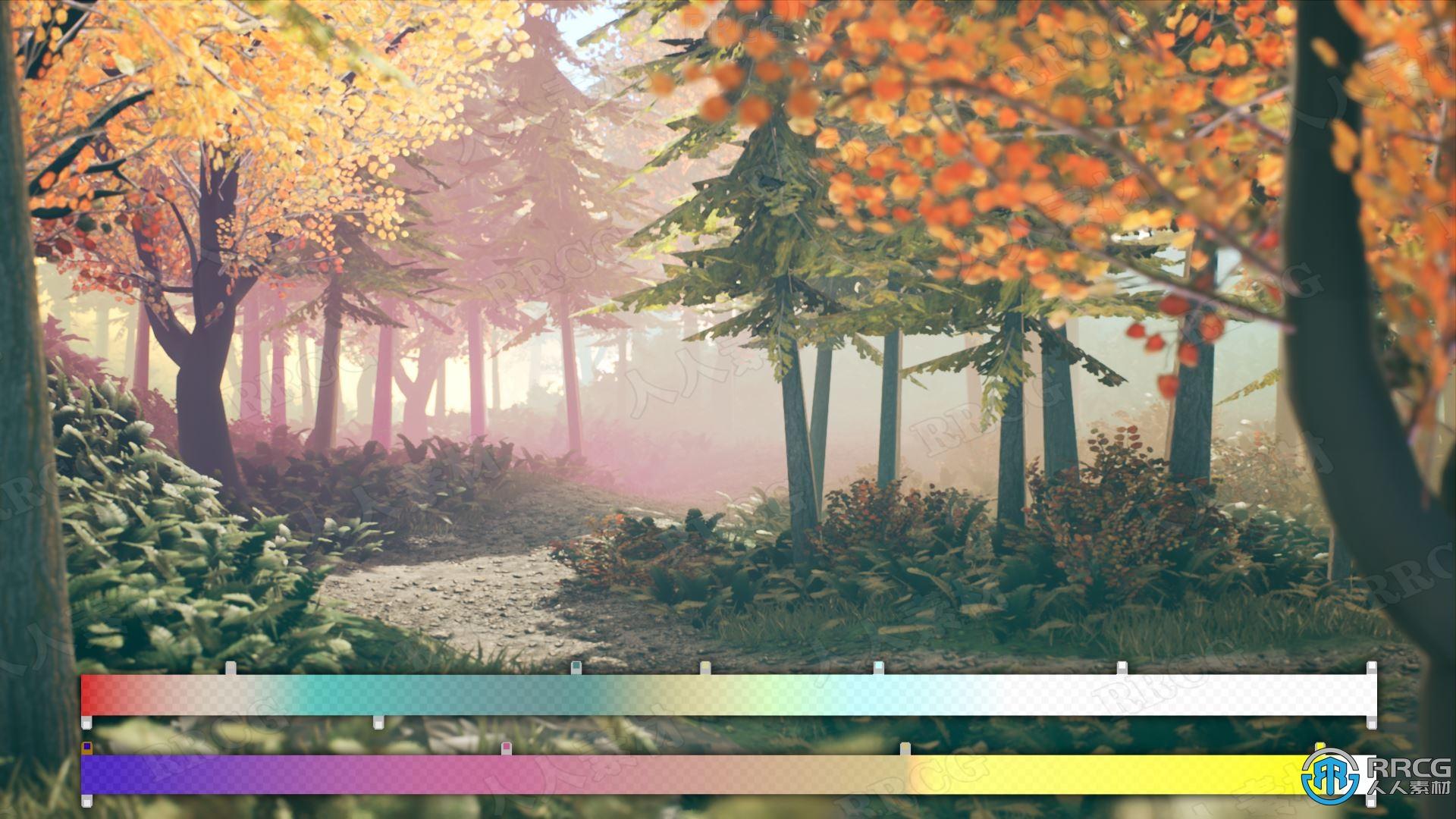 雾化渐变后期处理效果Unreal Engine游戏素材资源
