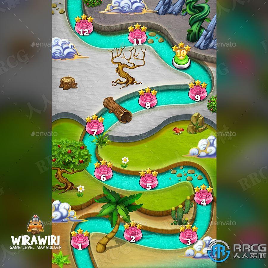 游戏关卡地图生成器背景艺术图像处理特效PS动作