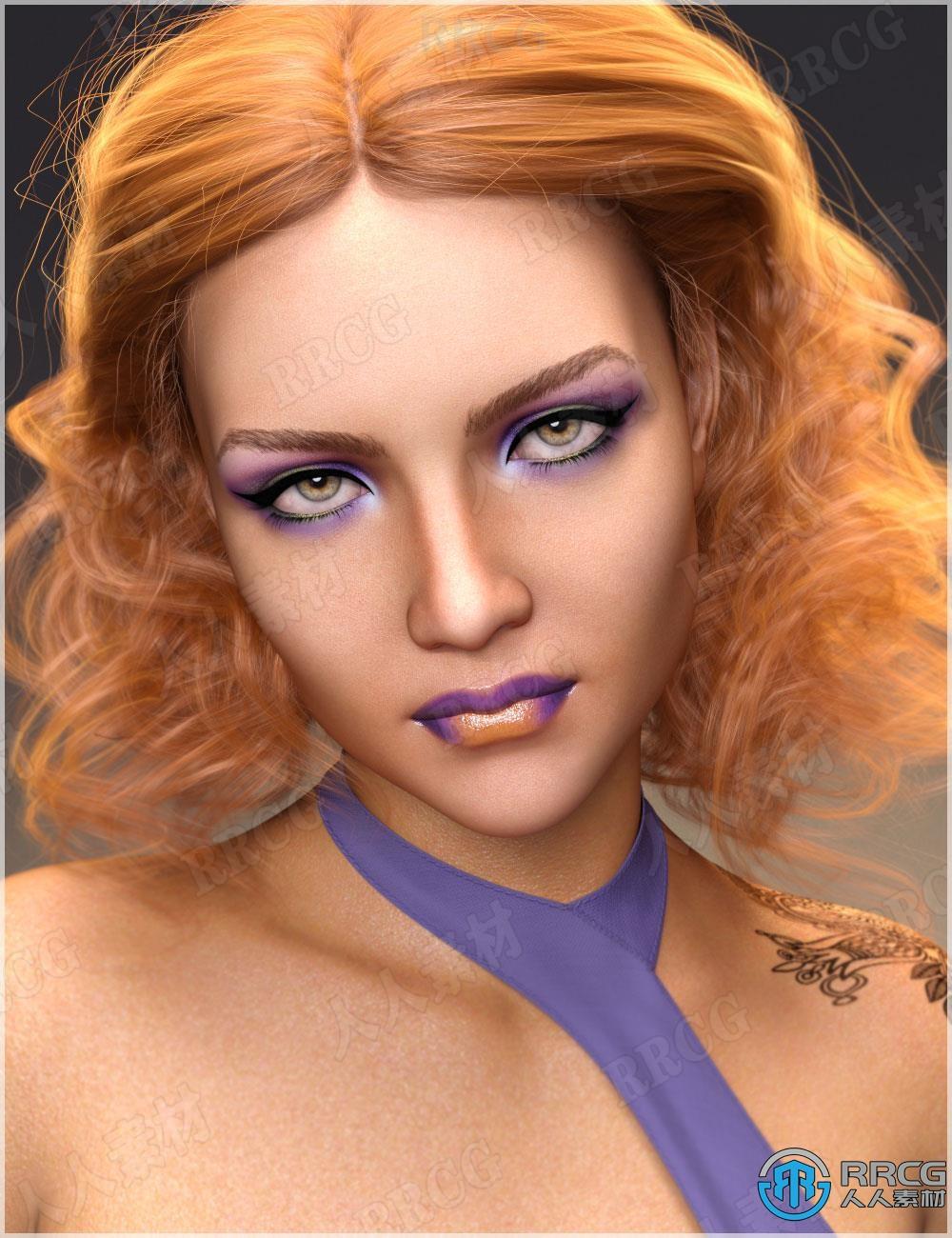异国风情性感活力欧美女性角色3D模型合集