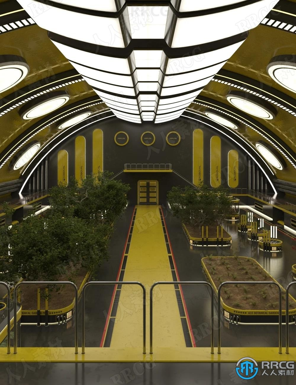 室内高级科技植物园环境场景3D模型合集