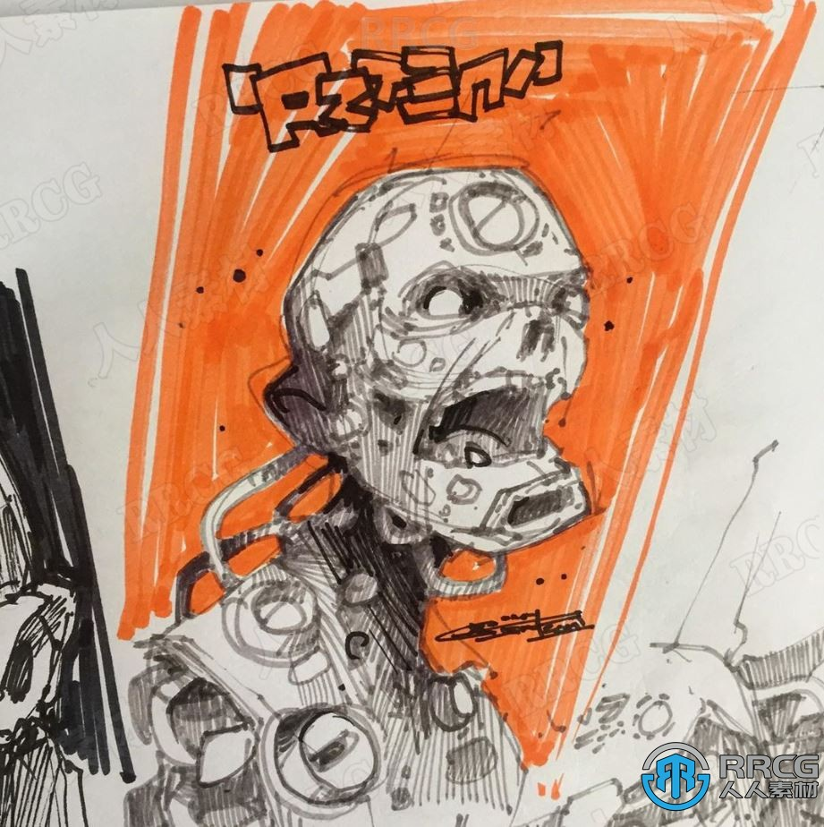 瑞典画师Artem Solop涂鸦风格机械概念手绘角色原画插画集