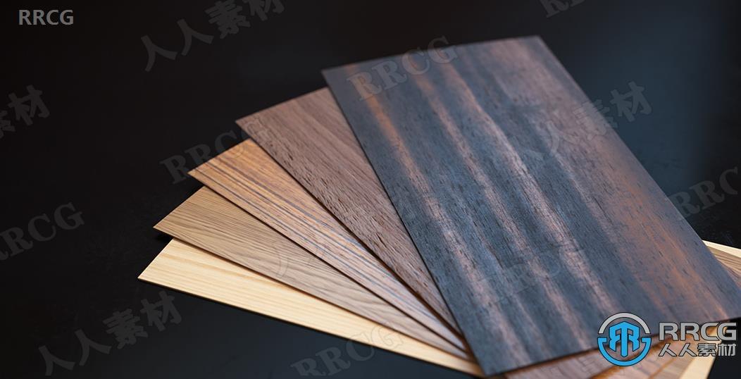 25组8K木材木质PRB无缝纹理贴图合集