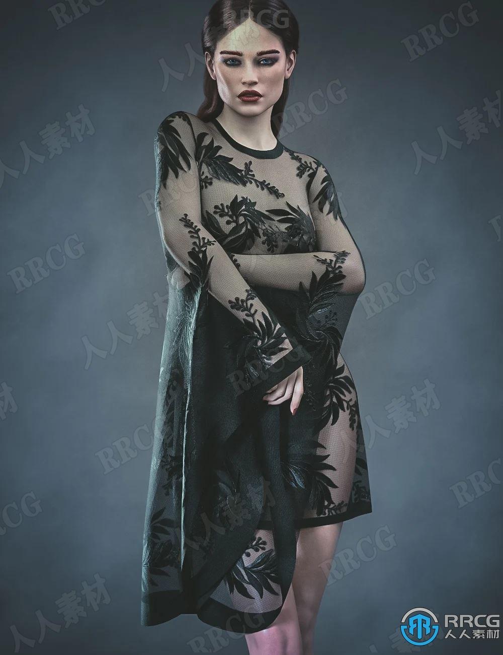 欧美妆容夸张造型女性角色3D模型合集