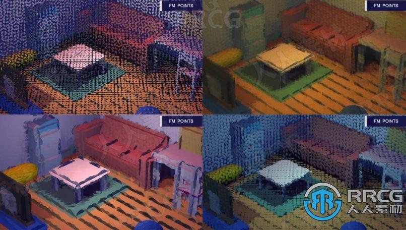 一体化点云可视化调频积分建模工具Unity游戏素材资源